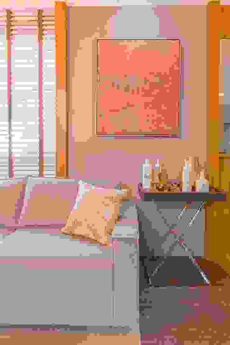 Sofá Modular Cinza por Sgabello Interiores Moderno Sintético Castanho