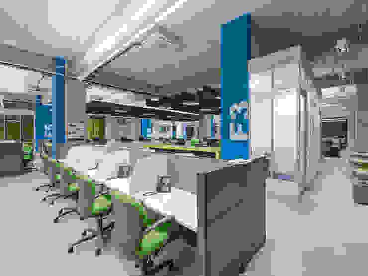 Tp Puebla Estudios y despachos modernos de IAARQ (Ibarra Aragón Arquitectura SC) Moderno
