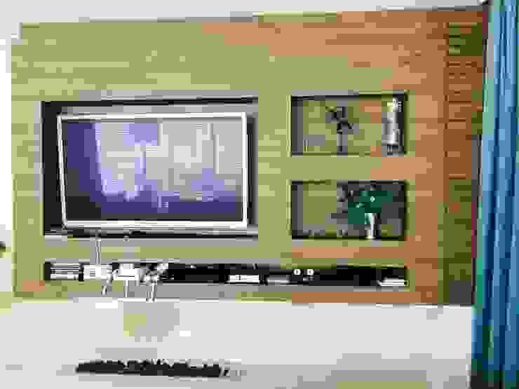 ADL Projetos Sob Medida Salas/RecibidoresMuebles para televisión y equipos Tablero DM Acabado en madera