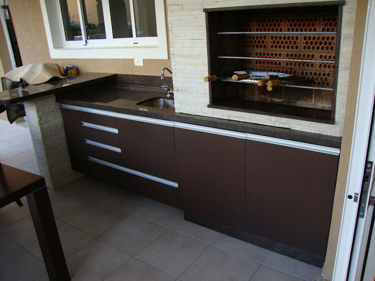 ADL Projetos Sob Medida Balcones, porches y terrazasMobiliario Tablero DM Acabado en madera