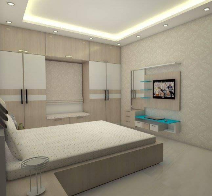 Master Bed Room Modern style bedroom by homify Modern Plywood