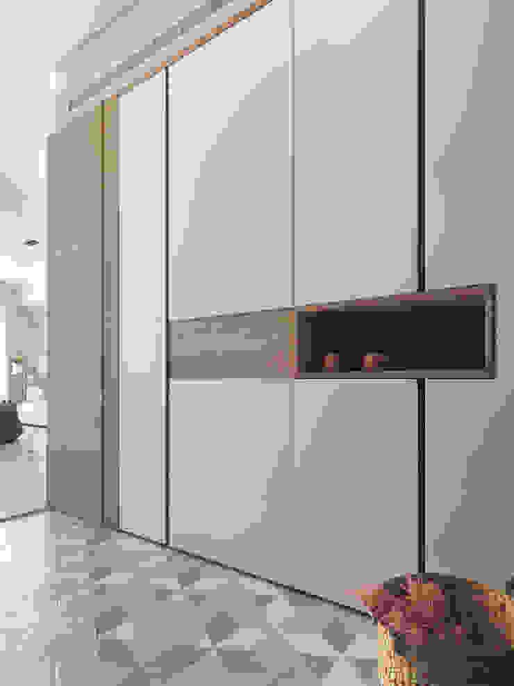 木星上的北歐幻想 斯堪的納維亞風格的走廊,走廊和樓梯 根據 賀澤室內設計 HOZO_interior_design 北歐風
