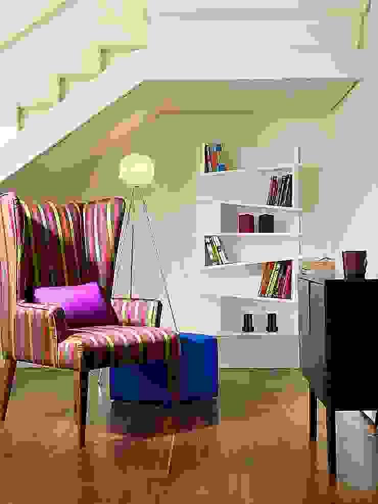 Papersky Studio Rustic style corridor, hallway & stairs