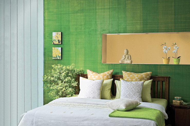 Tropical style bedroom by Papersky Studio Tropical