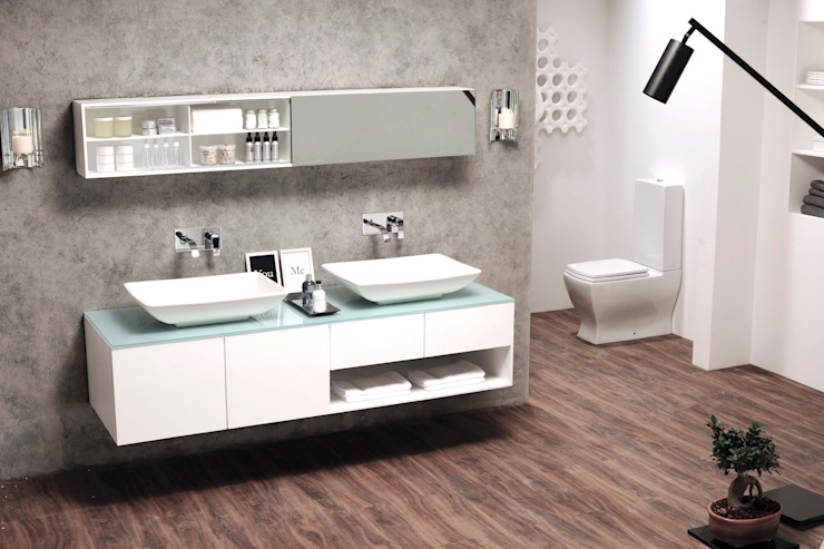 Industrial style bathroom by Papersky Studio Industrial