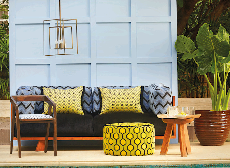 Outdoor Patio :  Terrace by Papersky Studio,Tropical
