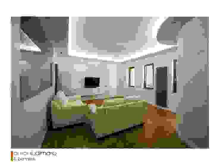 Ingresso & Salotto antoniodimaro + Partners Soggiorno moderno Bianco