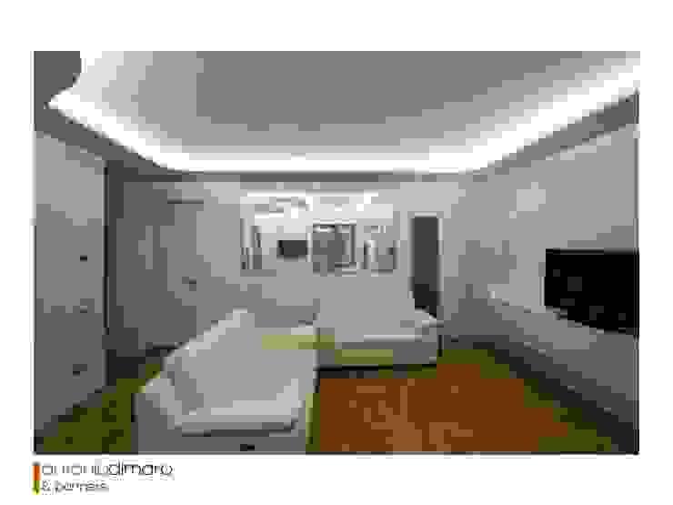 Salotto antoniodimaro + Partners Soggiorno moderno Bianco