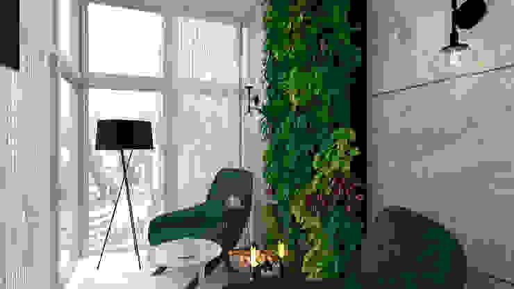 Студия NATALYA SOLNTSEVA Interiors Design Giardino d'inverno minimalista Ceramica Verde