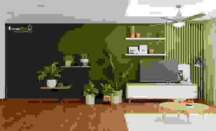 """SEASON AVENUE, ĐẠI LỘ 4 MÙA - """"MÙA HẠ MIỀN NHIỆT ĐỚI"""" Phòng khách phong cách nhiệt đới bởi Green Interior Nhiệt đới Gỗ thiết kế Transparent"""