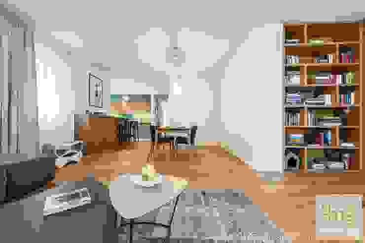 Projekt mieszkania o pow. 165 m2. Nowoczesny salon od 4ma projekt Nowoczesny