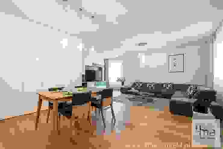 Projekt mieszkania o pow. 165 m2. Nowoczesna jadalnia od 4ma projekt Nowoczesny