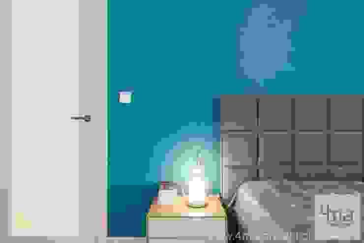 Projekt mieszkania o pow. 165 m2. Nowoczesna sypialnia od 4ma projekt Nowoczesny