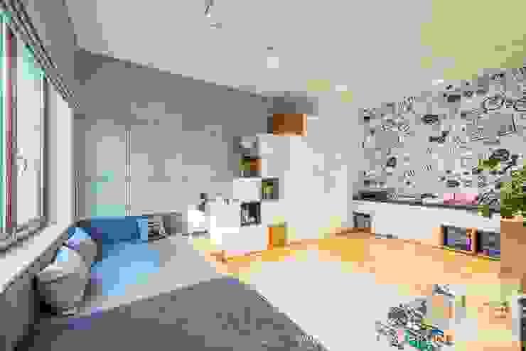 Projekt mieszkania o pow. 165 m2. Nowoczesny pokój dziecięcy od 4ma projekt Nowoczesny