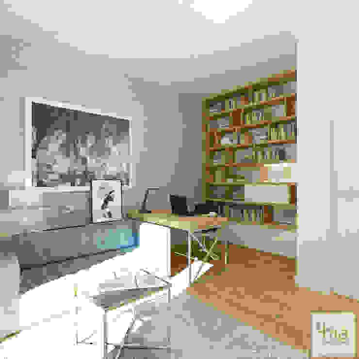 Projekt domu 4ma projekt Nowoczesne domowe biuro i gabinet