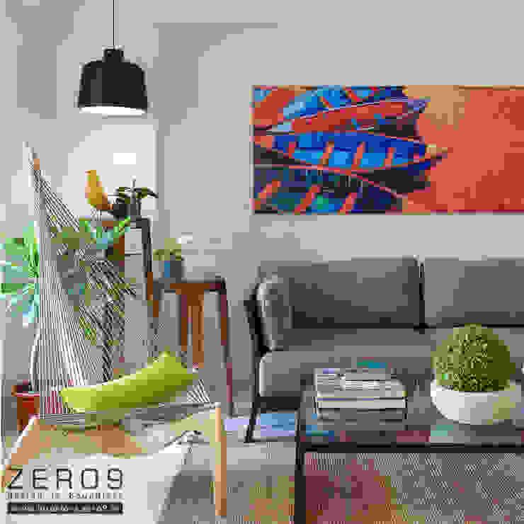 Living Room Modern living room by ZERO9 Modern Stone