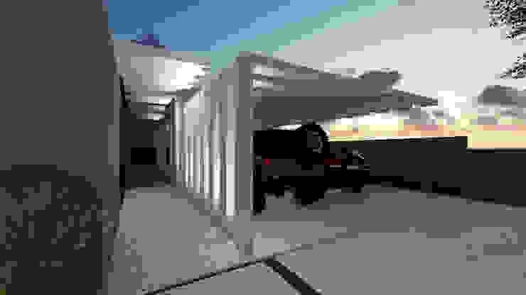 Garagem Garagens e edículas tropicais por Gislene Soeiro Arquitetura e Interiores Tropical