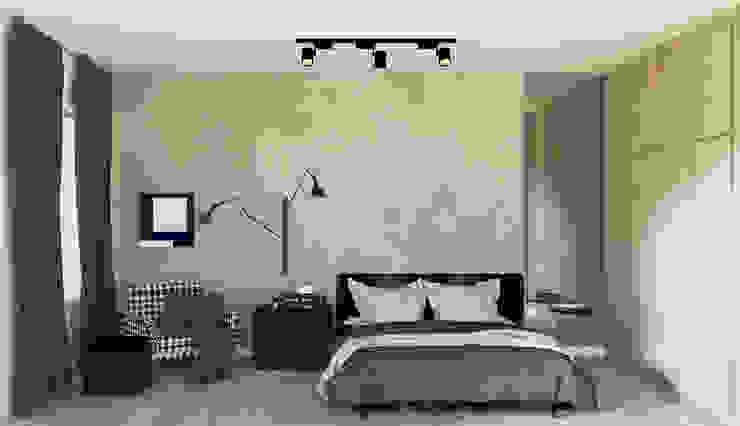 3D Quarto NY - Por Patrícia Nobre Quartos modernos por Patrícia Nobre - Arquitetura de Interiores Moderno Concreto