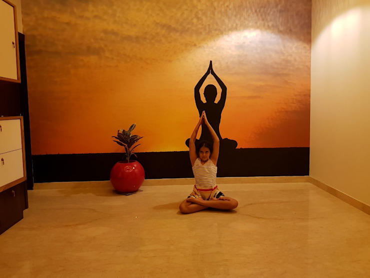 Yoga Room Modern Walls and Floors by Arch Point Modern