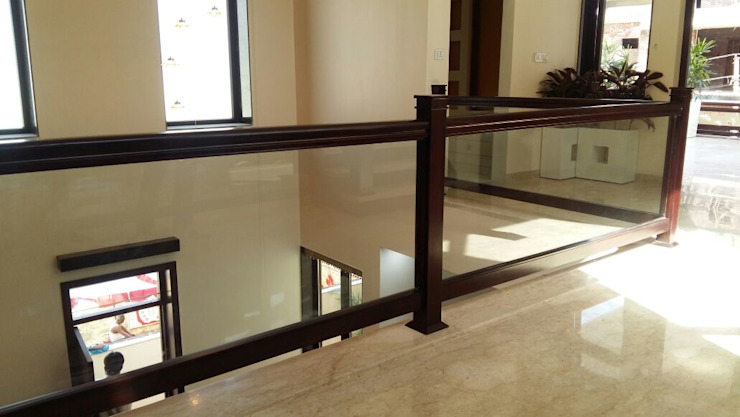 Railing Modern Corridor, Hallway and Staircase by Arch Point Modern