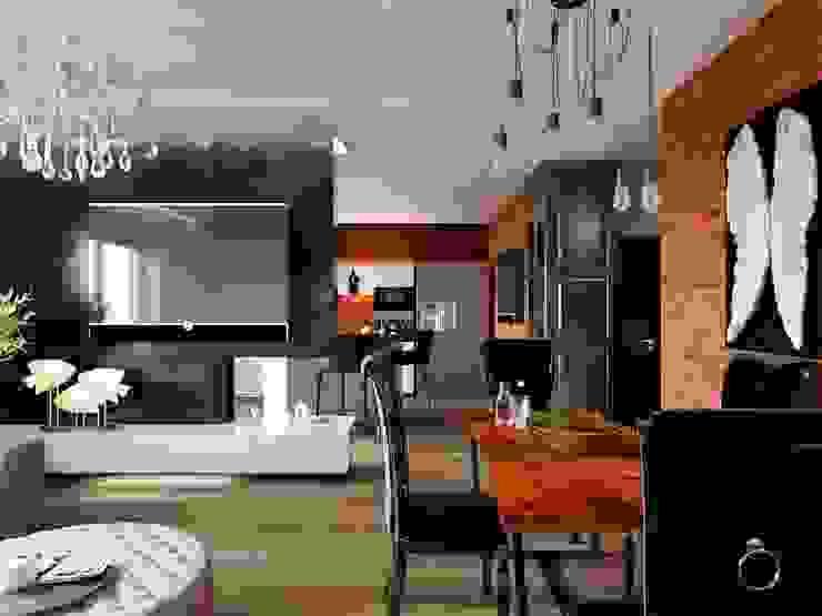 ДизайнМастер Modern Living Room Brown