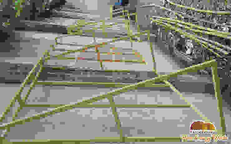 Rangka Besi Canopy Kain Jakarta Warna Cream Oleh Putra Canopy Klasik Tekstil Amber/Gold