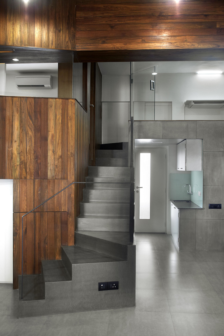 Mahesh Studio Modern study/office by DCOOP ARCHITECTS Modern