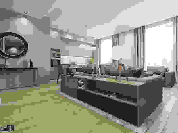 Salon minimaliste par Y.F.architects Minimaliste
