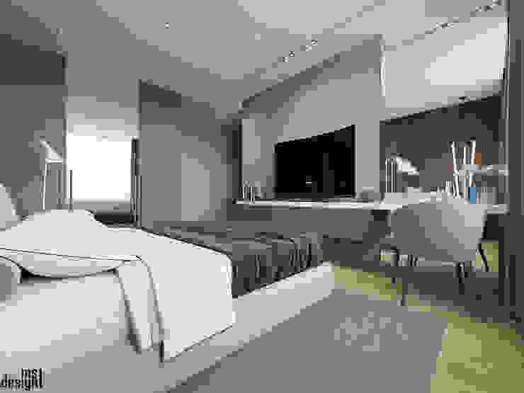 Chambre minimaliste par Y.F.architects Minimaliste