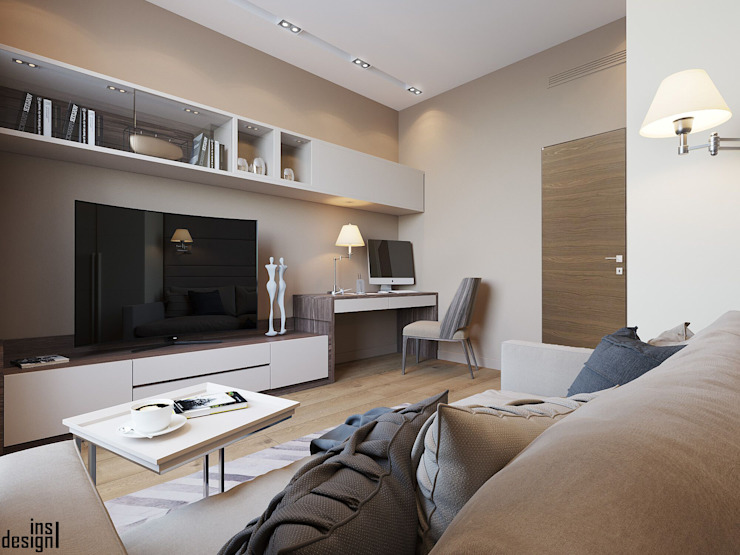 Bureau minimaliste par Y.F.architects Minimaliste