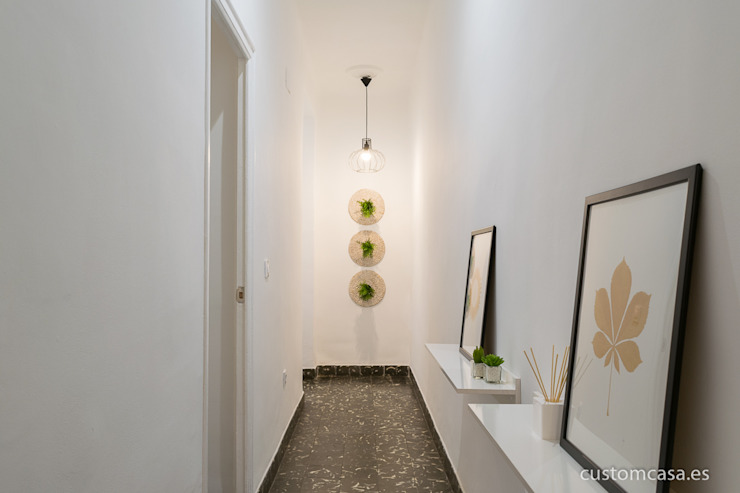 custom casa home staging Scandinavian style corridor, hallway& stairs