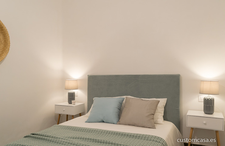 custom casa home staging Scandinavian style bedroom Turquoise
