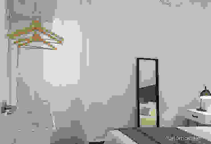 custom casa home staging Scandinavian style bedroom