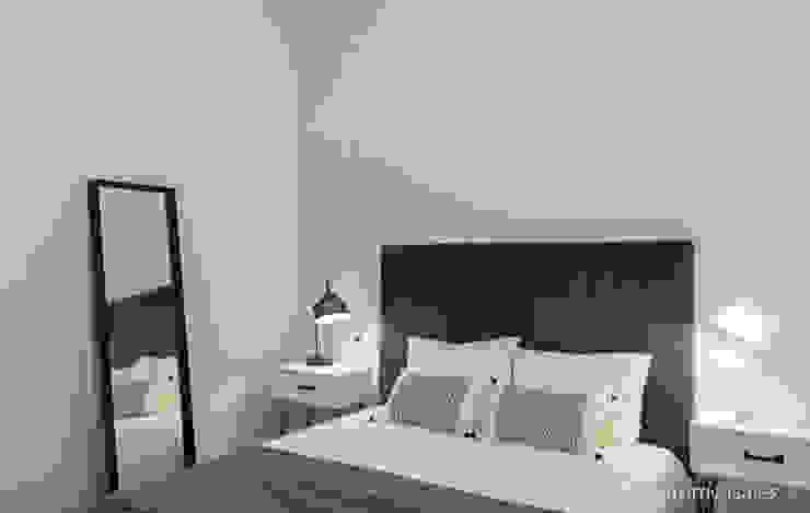 custom casa home staging Skandinavische Schlafzimmer