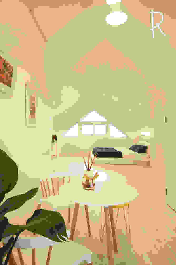 창원 14평 원룸 인테리어 모던스타일 미디어 룸 by 로하디자인 모던
