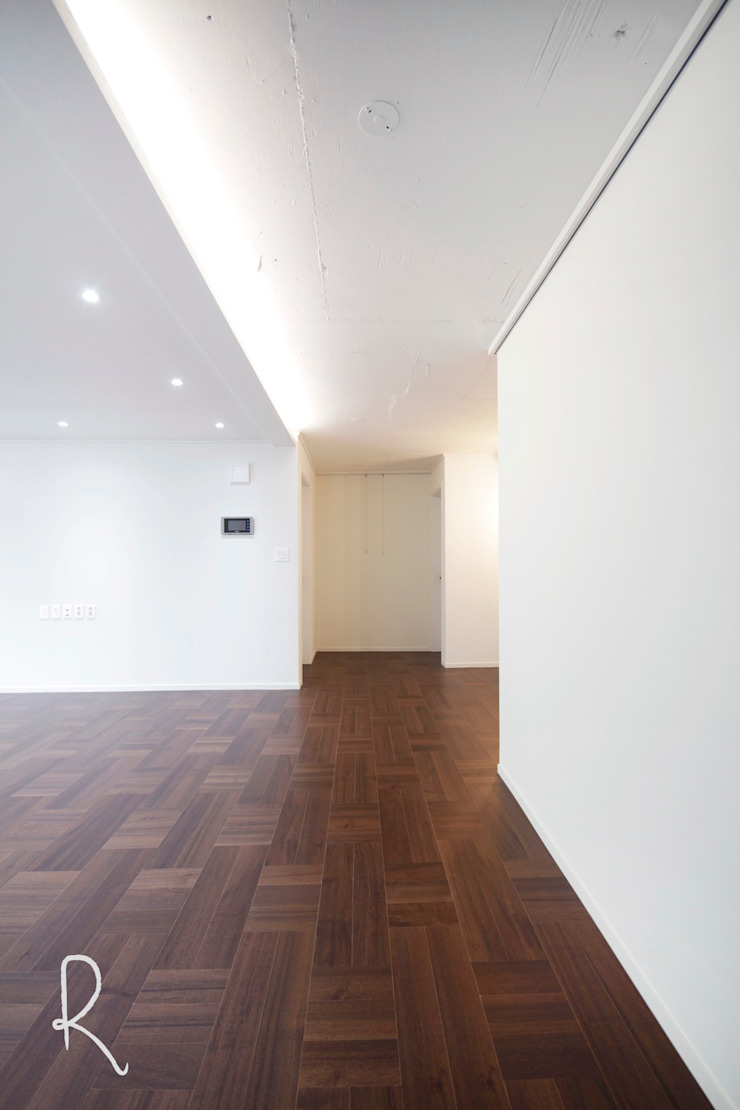 사하구 유림2차 39평 아파트 인테리어 모던스타일 거실 by 로하디자인 모던