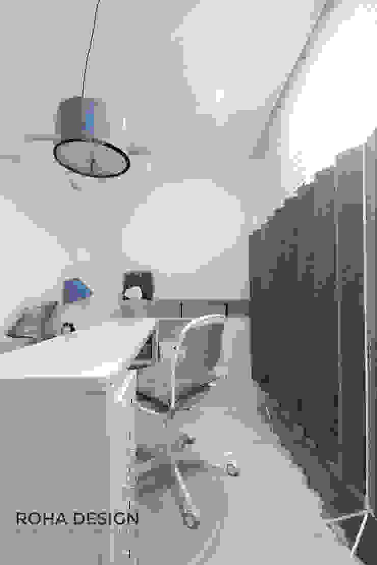 부산 북유럽 스타일 복층 아파트 인테리어 모던스타일 미디어 룸 by 로하디자인 모던