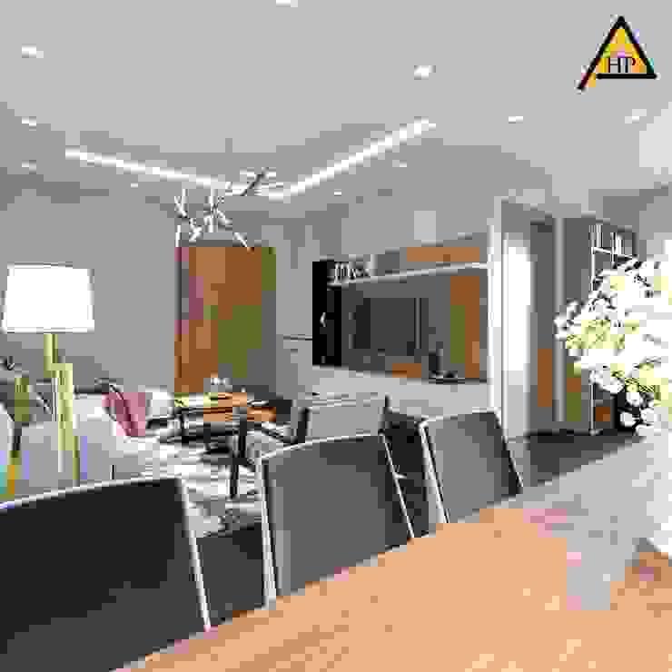 CTY KIẾN TRÚC VÀ NỘI THẤT HP-HOUSE Ruang Makan Modern