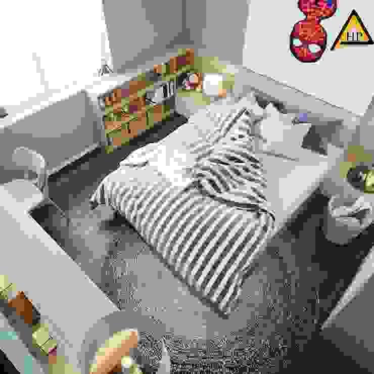 CTY KIẾN TRÚC VÀ NỘI THẤT HP-HOUSE Ruang Keluarga Modern