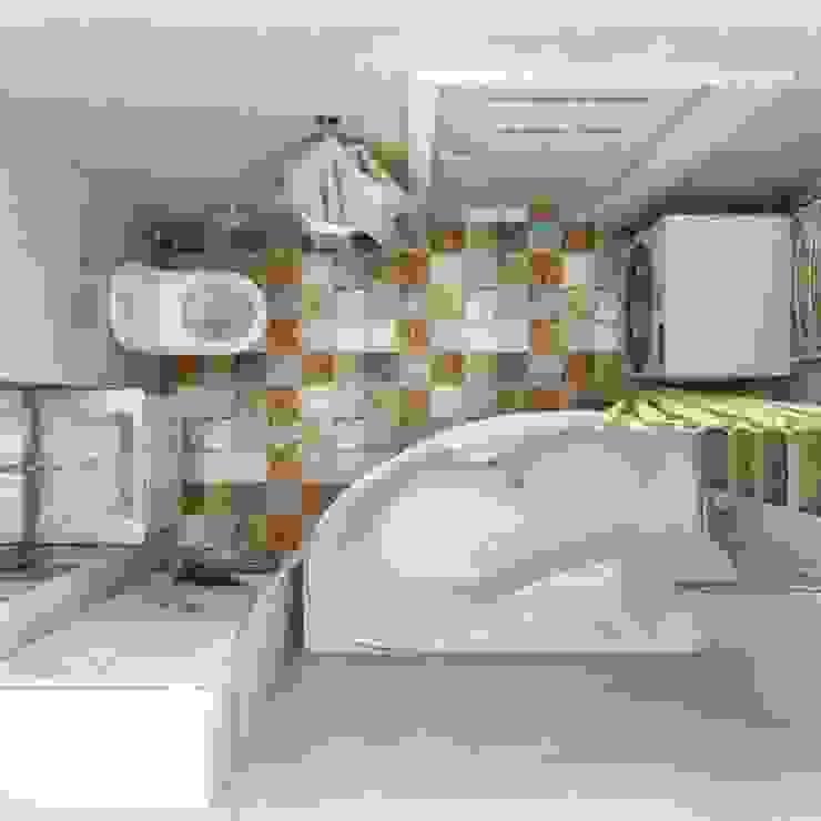 Ванная комната Ванная в классическом стиле от Гузалия Шамсутдинова | KUB STUDIO Классический