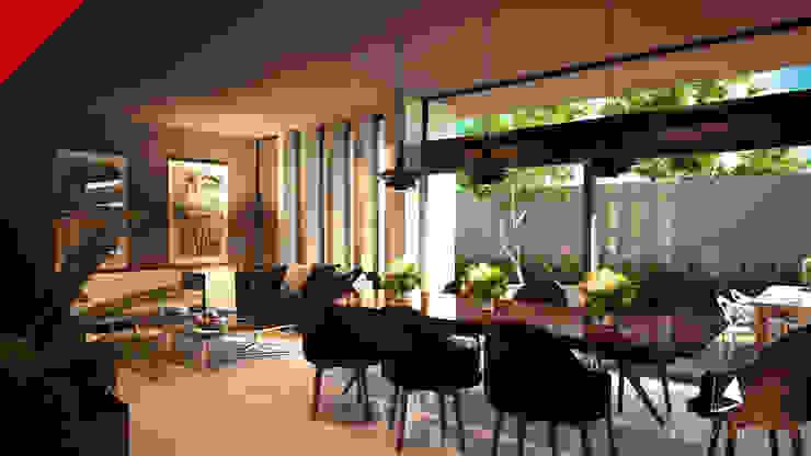 CASAS CECSA Modern Dining Room by Tectónico Modern
