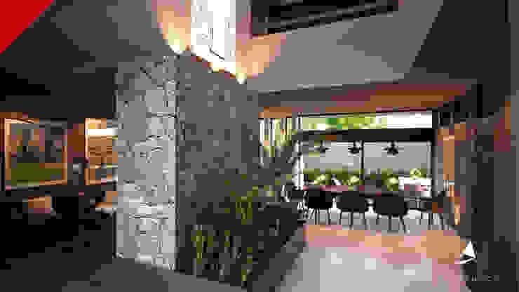 CASAS CECSA Modern Corridor, Hallway and Staircase by Tectónico Modern