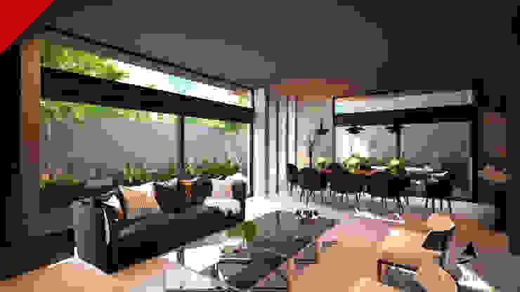 CASAS CECSA Modern Living Room by Tectónico Modern