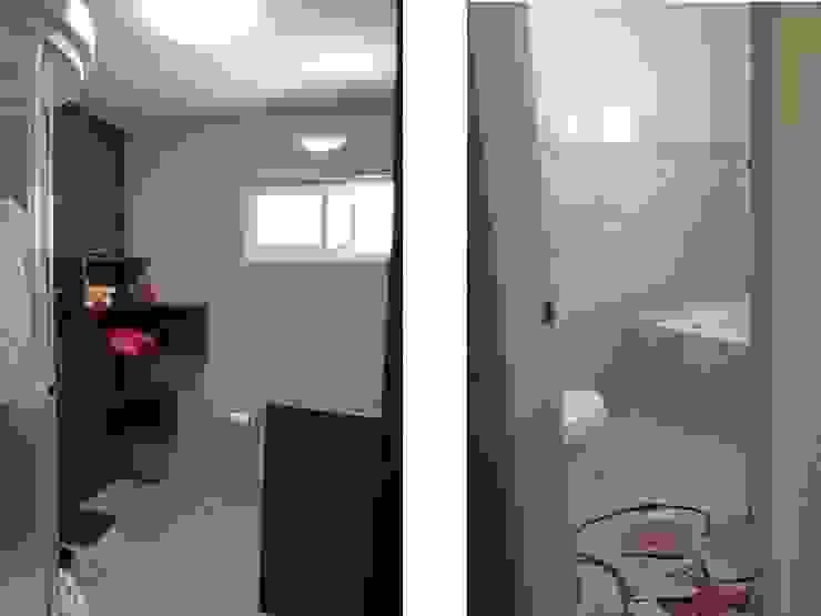 現代浴室設計點子、靈感&圖片 根據 bouchez arquitectos 現代風 木頭 Wood effect