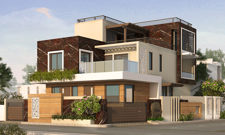 Exterior by Arch Point Modern