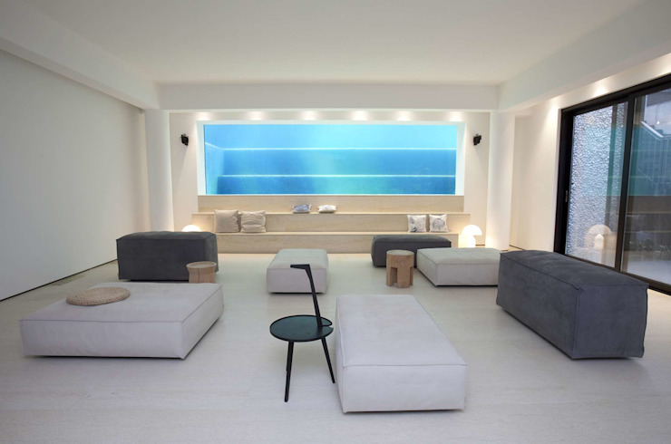 The Lake Dragon Minimalist media room by Clifton Leung Design Workshop Minimalist