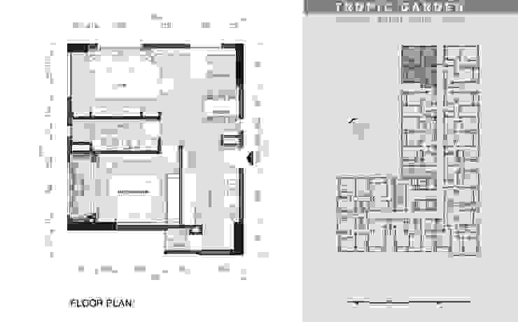Colonial style - Tropic garden apartment: thuộc địa  by V Design Studio, Thực dân