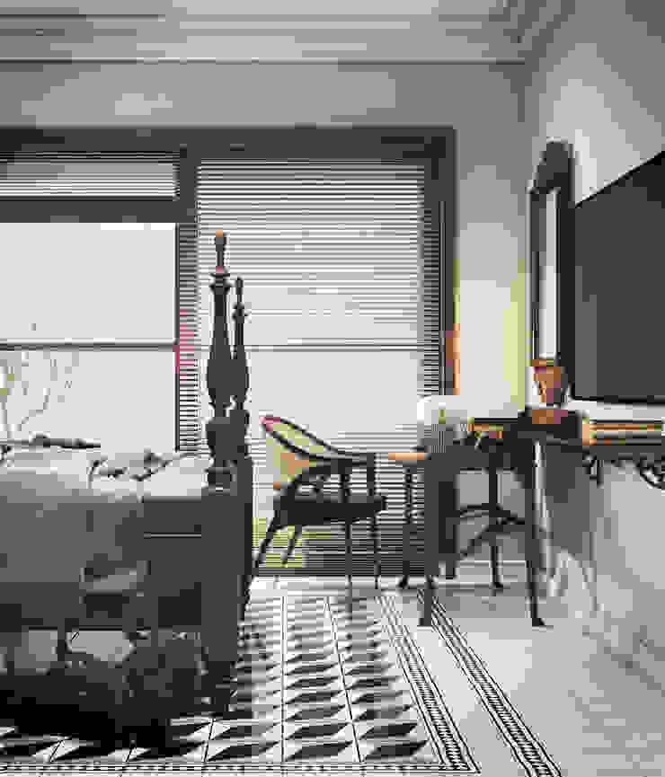 Colonial style – Tropic garden apartment Phòng ngủ phong cách thực dân bởi V Design Studio Thực dân