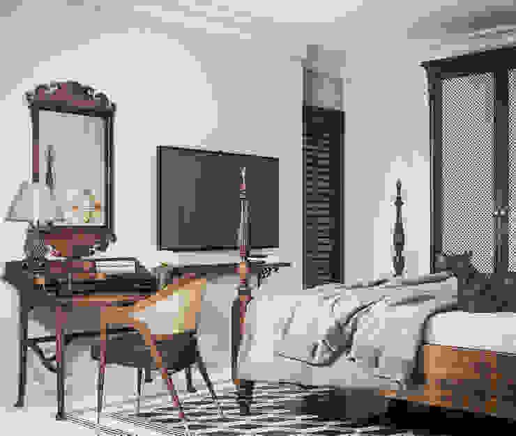 Colonial style - Tropic garden apartment Phòng ngủ phong cách thực dân bởi V Design Studio Thực dân