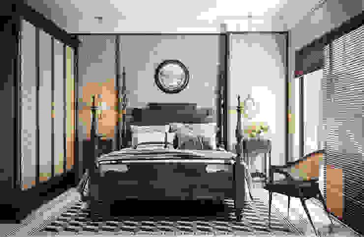 V Design Studio Colonial style bedroom